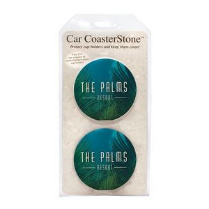 "CoasterStone Absorbent Stone Car Coaster - 2 Pack (2 5/8"")"