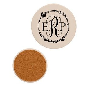 "4"" Round Absorbent Stone Coaster"