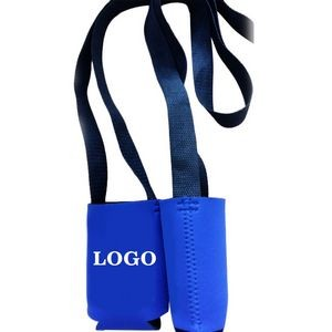 Budget Folding Custom Can Cooler with Lanyard