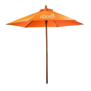 7' Wooden Market Umbrella