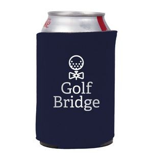Neoprene Collapsible Can Cooler w/ 1 Color Imprint