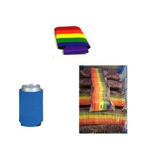 Rainbow Collapsible Neoprene Can Cooler